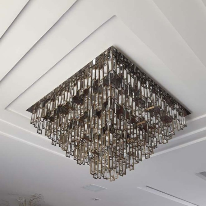 Lustre de cristal para sala de estar